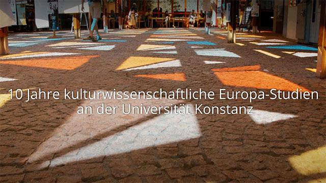 Filmstill 10 Jahre Europastudien der Uni Konstanz.