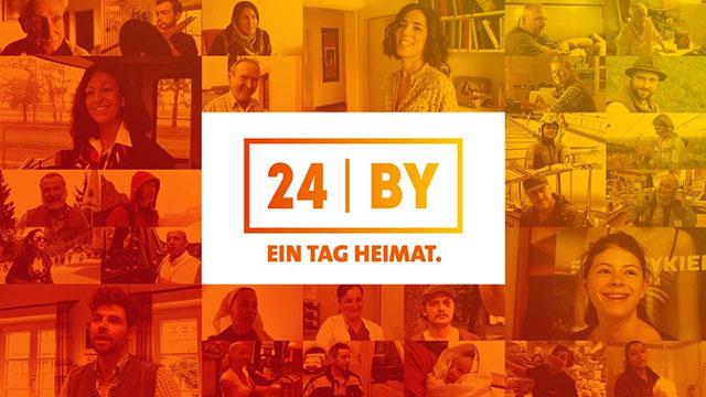 Projektcollage von 24h Bayern mit Logo.